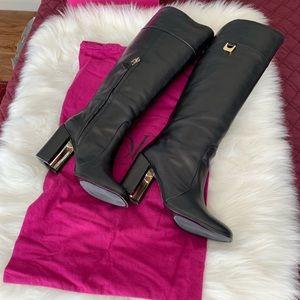 Diane Von Furstenberg Black Boots Size 9.5 M
